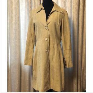 Venus Williams Wilson Leather suede coat Lg